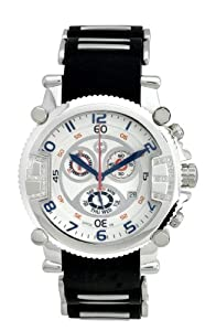 Brillier Men's 02.4.4.4.11.15 Diamond Chronograph Watch by Brillier