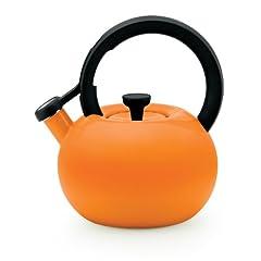 Circulon Teakettles Circles Whistling Kettle, 2-Quart, Mandarin Orange by Circulon