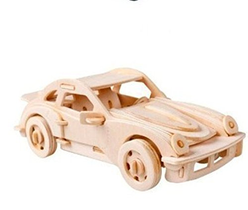 Dlong 3D DIY Assembly Construction Jigsaw Puzzle Handmade Educational Woodcraft Set Porsche Sports Car 911 Model Kit Toy for Adult and Children (Porsche 911 Model Car compare prices)