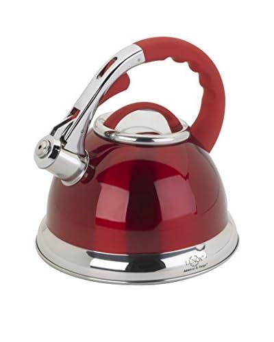 Lenox 2.5-Qt. Red Stainless Steel Whistling Tea Kettle