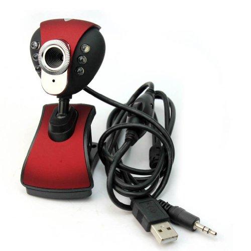 Rhx Usb 50.0M 6 White Led Webcam Camera Web Cam With Mic For Desktop Pc Laptop Msn