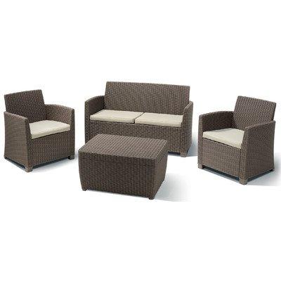 BEST 96114190 4-teilig Loungegruppe Bali, cappuccino / sand günstig bestellen