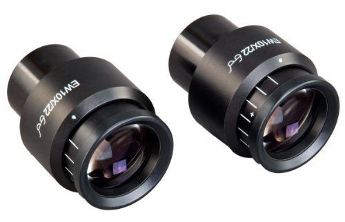 Omax A Pair Of High Eye-Point Widefield Microscope Eyepieces Ew10X/22 W Adjustable Diopter (30.0Mm)