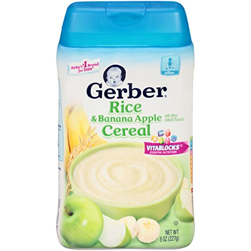 Gerber Rice and Banana Apple Baby Cereal, 8 Ounce (Pack of 6) (Gerber Banana Rice Cereal compare prices)
