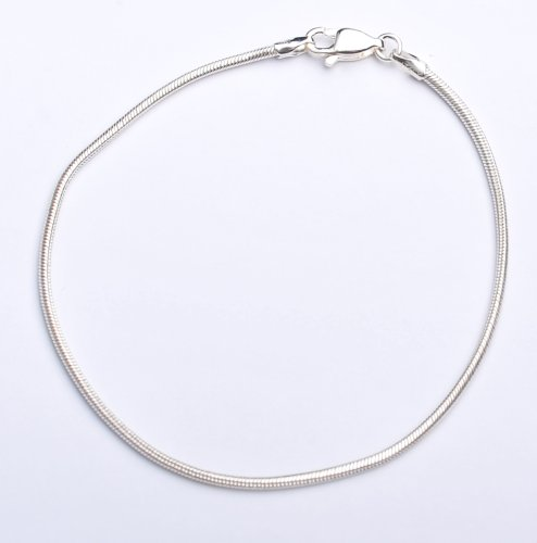 Silver Snake Chain Bracelet of Length 18.5cm