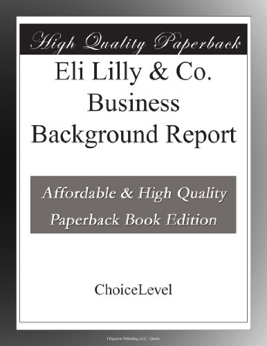 eli-lilly-co-business-background-report