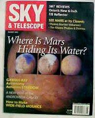 Sky & Telescope Magazine August 2003 (Where Is Mars Hiding Its Water?, Vol. 106)