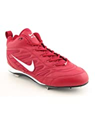 Nike Air Show 3/4 Baseball Cleats Shoes Red Mens