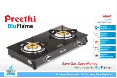 Preethi-Smart-Glass-GTS-001-Gas-Cooktop-(2-Burner)