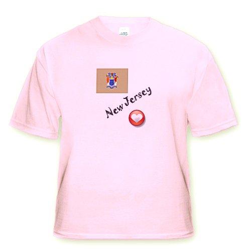 I Love New Jersey - Youth Light-Pink-T-Shirt XS(2-4)