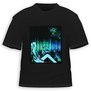 Rock DJ Equalizer Sound Activated LED T-Shirt