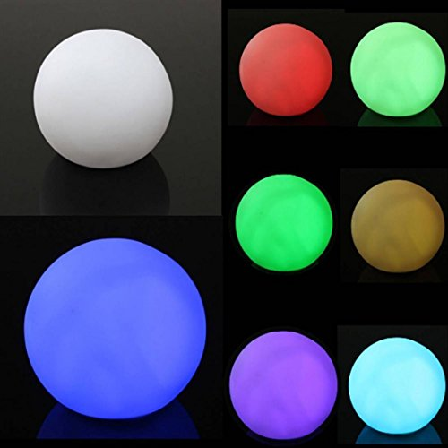 1Pc Impassioned Modern LED Color Changing Nightlight Mood Ball Shaped Home Decor Spheriform Multicolor
