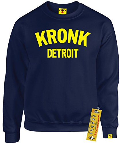 Kronk Boxing Detroit Klitschko Hearns Felpa da uomo blu navy Medium