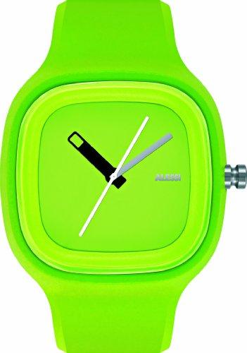 Alessi Mixte AL10011 Kaj Lime Vert Polyurethane Montre Bracelet