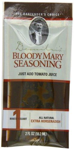 Demitri's Bloody Mary Seasoning Extra Horseradish Recipe, 2-Ounce Packs (Pack of 50)