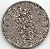 Reino Unido KM de referencia: 9041954vorzüglich Cobre de níquel 19541Shilling elizabeth II. (monedas para coleccionistas)