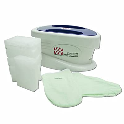WaxWel 11-1604 Paraffin Bath Unit Includes 6 lb, Lavender Paraffin, 100 Liners, 1 Mitt and 1 Bootie