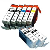 【むさしのメディアオリジナル】 キヤノン互換 BCI-7E+9/5MP+BK2 5色セット+黒2個 インクカートリッジ ICチップ(残量表示機能)付き [フラストレーションフリーパッケージ(FFP)]