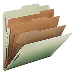Smead 100% Recycled Pressboard Classification File Folder, 3 Dividers, 3\