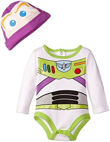 Disney Baby Boys' Buzz Lightyear Creeper, Multi, 0-3 Months (Baby Buzz Lightyear)