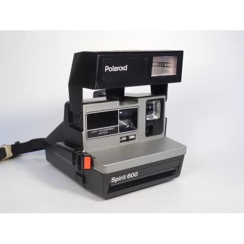 Polaroid Spirit 600 Vintage Instant Camera w/ Silver/Gray Front