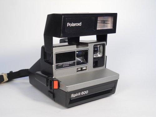Polaroid Spirit 600 Vintage Instant Camera w/ Silver/Gray Front 0