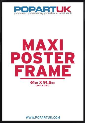 Popartuk cornice nera lucida per poster 61 x 91 5 cm for Cornice poster 61x91