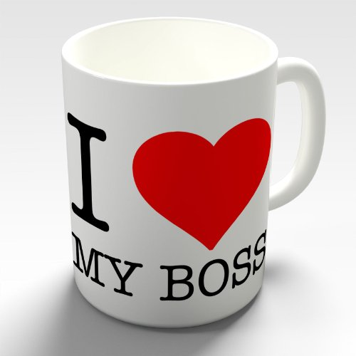 I Love My Boss Novelty Coffee Mug