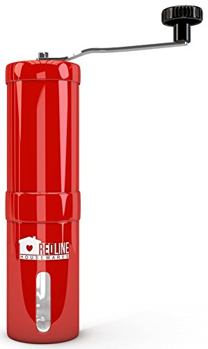 Red Line Housewares Manual Coffee Grinder Makers with Adjustable Ceramic Conical Burr, Red (Coffee Bean Grinder Red compare prices)