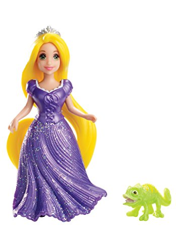 Disney Princess Little Kingdom RAPUNZEL & PASCAL mini doll set with MagiClip Fashion Dress - 1