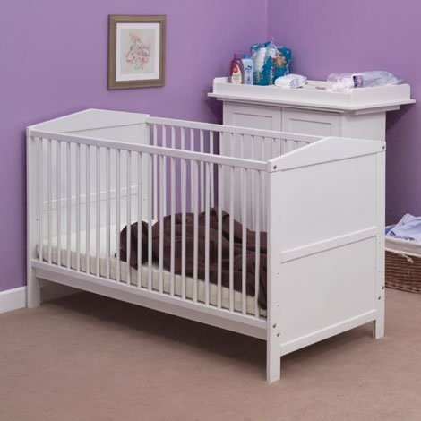 Saplings Gemma Nursery White Cot Bed 140x69 cm