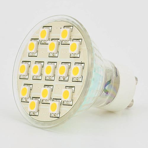 Ledwholesalers Gu10 5050 Smd Led Halogen Replacement Bulbs Wide Angle, Warm White, 1232Ww