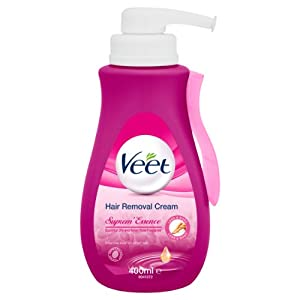 Veet Suprem'Essence Hair Removal Cream with Velvet Rose and Essential Oils for Normal/Dry Skin 400 ml