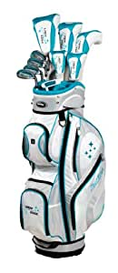 Tour Edge Women's 2014 Lady Edge Golf Full Set, Ladies Flex, Left Hand, Graphite, Teal, +1-Inch