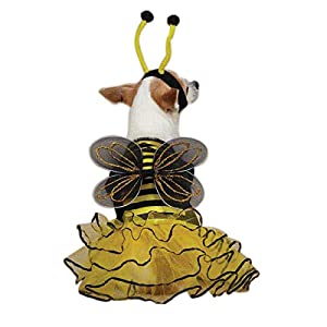 Casual Canine Bee Mine Dog Costume, Large, Yellow