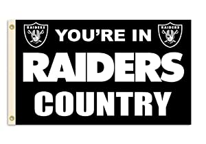 NFL Oakland Raiders 3-by-5 Foot In Country Flag by Fremont Die