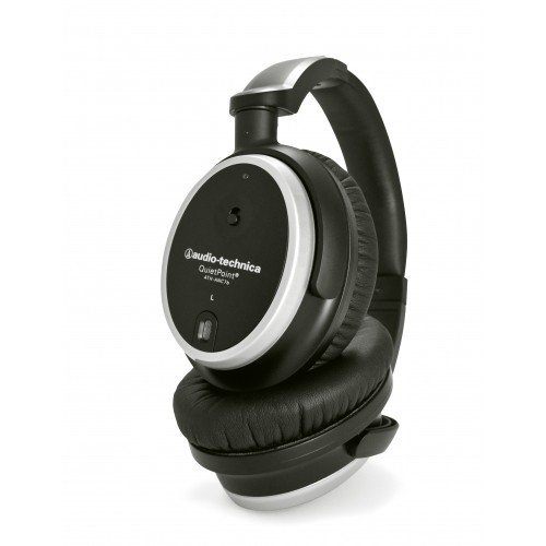 Audio-Technica Ath-Anc7B Quietpoint Active Noise-Cancelling Closed-Back Headphones - Manufacturer Refurbished