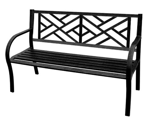 Jordan 3K-SMAZE Steel Park Bench with a Maze for The Back, 50-Inch by 21.6-Inch by 34-Inch