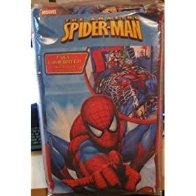 Amazing Spiderman Full Comforter 76 inch x 86