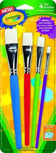 Crayola Big Paint Brushes Flat (2-Pack of 4)