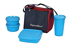 Signoraware Best Lunch Box with Bag, T Blue