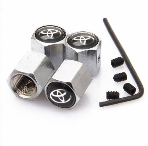 Toyota Anti-theft Chrome Car Wheel Tire Valve Stem Caps (Tire Caps Valve Toyota compare prices)