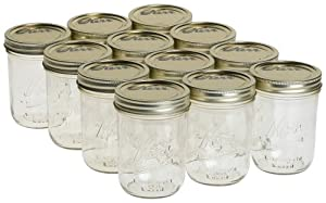 Kerr 0518 wide mouth mason jar pint, 16oz(case of 12) from Alltrista1