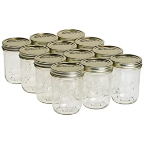 Jarden 00518 1 Pint Wide Mouth Canning Jars