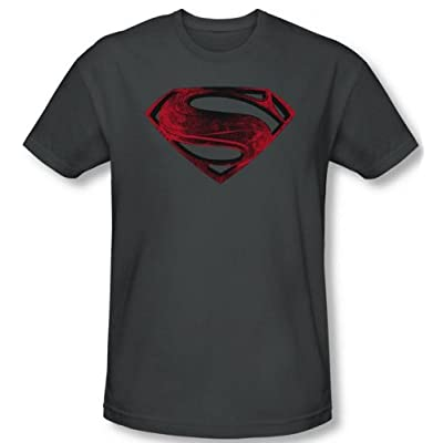 Superman Man of Steel Red And Black T-Shirt