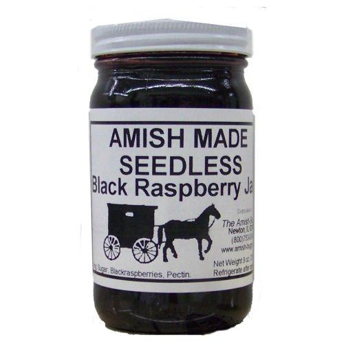 Amish Jam Seedless Black Raspberry -