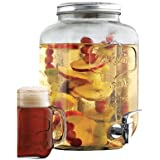 Wine Enthusiast Mason Jar Beverage Dispenser