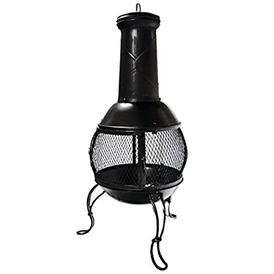 Classical Chiminea Outdoor Garden Patio Heater Log Burner For Bbqs Camping by KCT Leisure