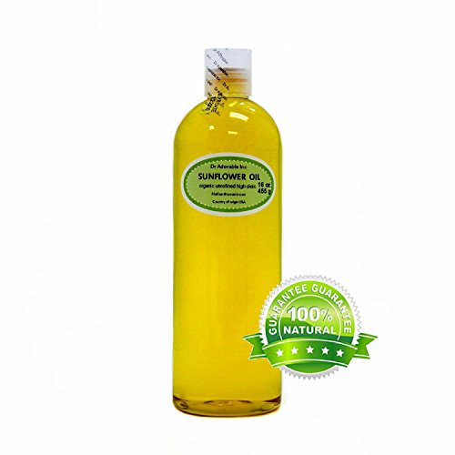 Unrefined Sunflower Oil Cold Pressed Organic 100% Pure 16 Oz/ 1 Pint