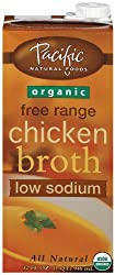 Pacific Natural Foods Organic Low Sodium Chicken Broth, 32-Ounce Containers (Pack of 12)